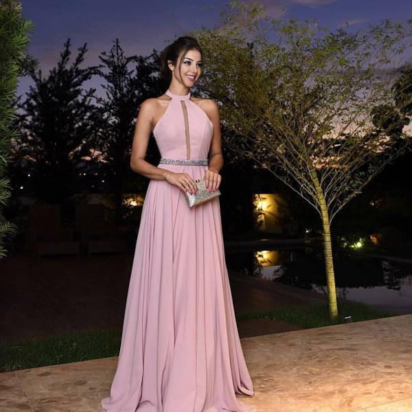 Long Pink Prom Dresses Elegant Formal Evening Gown Cheap Party Dress Junior Senior Custom Plus size