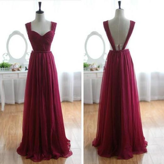 Cheap A line Wine Red Open Back Sexy Prom Dresses Gowns 2016,Formal Evening Dresses,Homecoming Graduation Cocktail Party Dresses, Custom Plus size