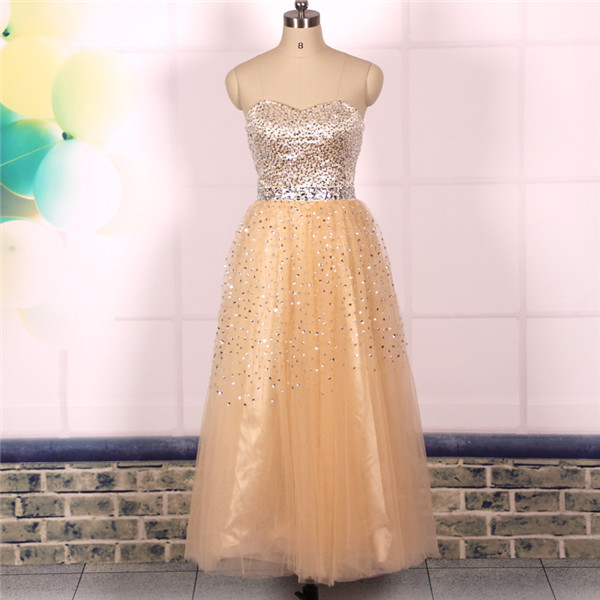 Custom Cheap Sweetheart Heavy Beaded Bling Bling Tulle Long Champagne Prom Dresses 2016 Ball Gowns, Formal Evening Dresses Gowns, Homecoming Graduation Cocktail Party Dresses, Holiday Dresses, Plus size