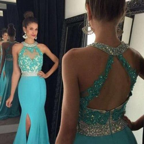 Custom Cheap Prom Dress, Turquoise Prom Dress, Long Prom Dresses,Mermaid Prom Dress, Sexy Prom Gowns, Prom Dress Mermaid, Formal Evening Dress, Graduation Dress, Party Dress