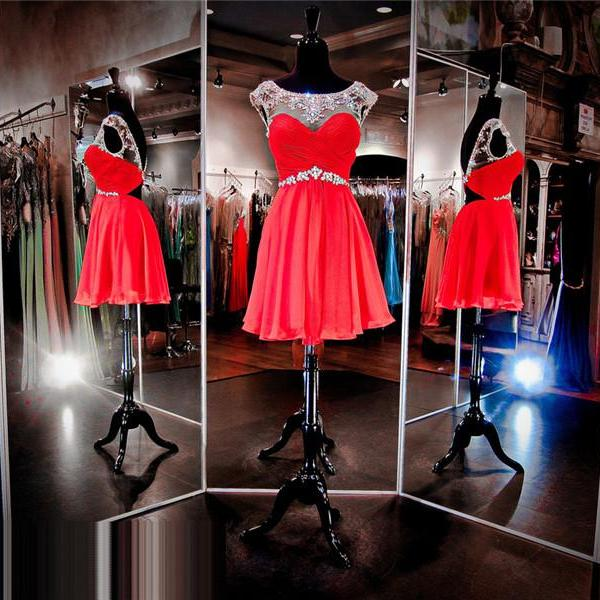 Red Prom Dress,Short Prom Dress,Junior Prom Dress,Cheap Prom Dress,Prom Dress 2016,Chiffon Prom Dress, Prom Dress Short, Cheap Homecoming Dress, 8th Grade Prom Dress,Holiday Dress,Evening Dress Red, Short Evening Dress,Formal Dress, Red Homecoming Dresses, Graduation Dress, Cocktail Dress, Party Dress
