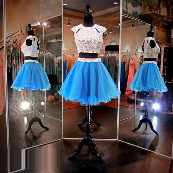 Blue Prom Dress,Short Prom Dress,Junior Prom Dress,Cheap Prom Dress,Prom Dress 2016,2 Piece Prom Dress, Prom Dress Short, Cheap Homecoming Dress, 8th Grade Prom Dress,Holiday Dress,Blue Evening Dress, Short Evening Dress,Formal Dress, 2 Piece Homecoming Dresses, Graduation Dress, Cocktail Dress, Party Dress