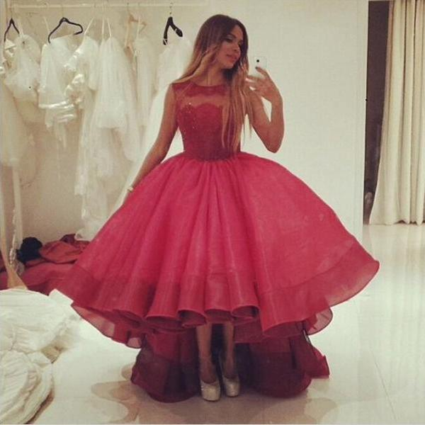 Prom Dress,Prom Gown,Red Prom Dress,Lace Prom Dress,High Low Prom Dress, Quinceanera Dress,Prom Dress Cheap,Formal Dress,Evening Dress,Custom Plus size